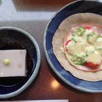 すみくら - 料理写真:そばセットの蕎麦豆腐、ガレット