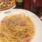 イタリアン・トマトカフェジュニア - 4種チーズのカルボナーラ 730円 + 大盛 110円