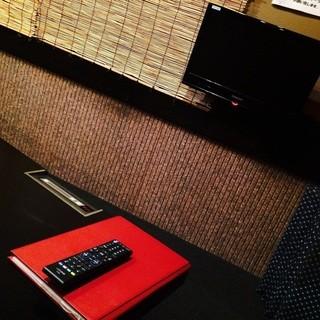 全室テレビを完備
