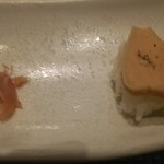 サカナザ - お口取り フォアグラのお寿司