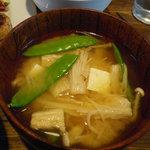4003641 - 本日のランチ:お味噌汁