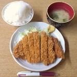 40030321 - 2015.7.17。とんかつ定食(ご飯大盛)500円