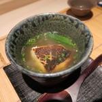 みや - 27年7月 炭火焼マナガツオ・賀茂茄子・フルーツトマト・オクラのスープ