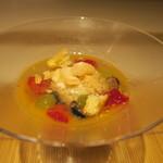 みや - 27年7月 和三盆アイス・夕張メロンのスープ ブルーベリー・最中