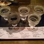 五郎 - 利き酒5点(1,200円)
