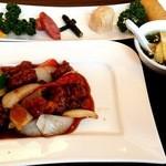 北京料理 彩鳳 - 黒酢酢豚ランチです