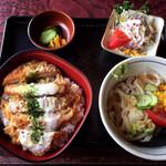 水車 - カツ丼ミニうどんセット