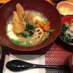 大戸屋 - すけそう鱈の生姜みぞれあん定食 ¥885 + ほうれん草のおひたし ¥159
