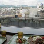 茨木スカイレストラン - 景色をみながらのカレーはうまし