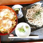 丸福 - カツ丼と小ざるそば(1100円)