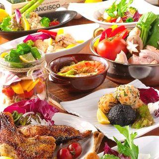 情緒溢れる和モダンの雰囲気で新鮮野菜のお料理をご堪能★