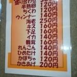 40044110 - 天ぷらメニュー