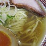 煮干鰮らーめん 圓 - 煮干ラーメンのアップ