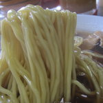 みんみんラーメン - 麺のアップ