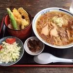臥龍亭 - 肉そばセット(中華麺Ver)H27.7.6