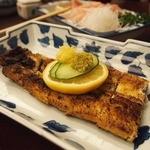 富松うなぎ屋 - 塩焼き1870円 レモン絞り、わさび&しょうが・・ふっくら香ばしい塩加減の鰻に◎