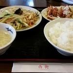 Chuukaryourinishimachi - 日替りBランチ7種の野菜炒め&ユウリンチー2015年7月 再訪
