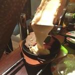 水戸チーズバル - 目の前でラクレットしてくださる(°_°)!