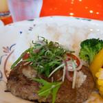 クレプスキュール・カフェ - ランチ・ハンバーグ(スープ・サラダ・ドリンク付き):850円/2015年7月
