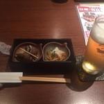 酒楽亭うみひこ - 生ビールとお通し