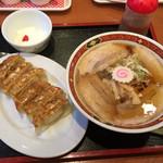 喜多方ラーメン 大安食堂 - 大安特製餃子セット