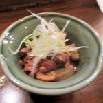 鶏とハイボール フライングチキン - 鶏のモツ煮2015.07.15