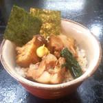 俊麺 なが田 - Cセット(特製豚の角煮ごはん)250円