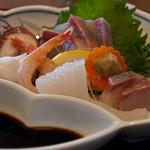 キッチンしま - 天刺し定食、刺身
