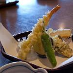キッチンしま - 天刺し定食、天ぷら