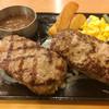 ビッグボーイ - 料理写真:2種の味くらべハンバーグ