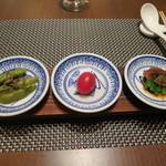 shinchuugokuryourikouryuu - 先付3種