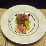 和心亭 豊月 - 主肴:鴨とフォアグラ、トマトソース
