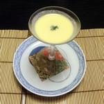 和心亭 豊月 - 口直し:冷製コーンスープ