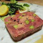 40076770 - フランス産鴨肉とフォアグラのパテ トリュフヴィネグレットで和えたサラダ(+500円)