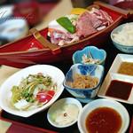 明日香 - 料理写真:焼き肉三昧船盛り御膳