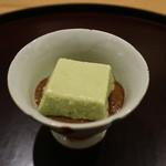 日本料理 太月 - 2015/7 枝豆入り胡麻豆腐にえごまみそ