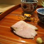 日本料理 太月 - 2015/7 鴨ロースト沢蟹揚げ