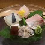 日本料理 太月 - 2015/7 鯛、佐渡のあら、マコガレイ身とえんがわ、すずき