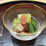 日本料理 太月 - 2015/7 冬瓜、オクラなどの冷製仕立て
