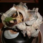 菊華荘 - サザエ壺焼き