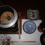 菊華荘 - 鮎ご飯(生姜炊き込み)