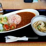 さぬき・むさし野うどん水織 - トマトカレーとミニとろろうどんセット(780円)