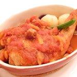 40091297 - ランチコース 1800円 の骨付き若鶏もも肉のプレゼ バスク風