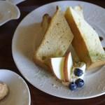 CAFE DROME - シフォンケーキ2種の味=15年7月