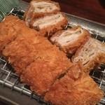 キムカツ - ■ キムカツ(柚子胡椒):1,980円 ・炊き立てご飯 ・キャベツ ・お味噌汁 ・香の物付