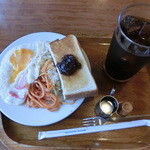 ブラジリアン三条 - Aセット、アイスコーヒー380円