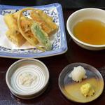 そば処 鞍馬 - 穴子天(1,190円)