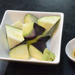 そば処 鞍馬 - 水茄子の刺身(420円)