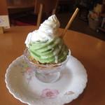 ヒーローズカフェ - 抹茶パフェ