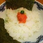 麺徳 - 明太子ごはん❤